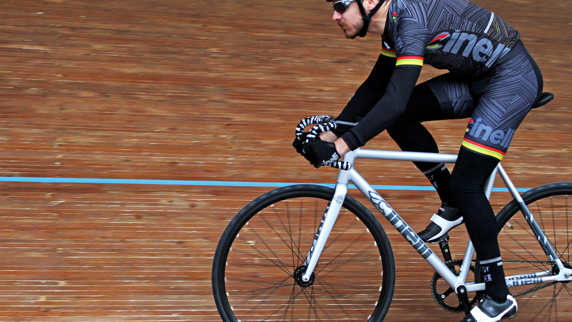Paolo Bravini testing the Tipo Pista